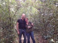 And we did a lot of walking in the pristine forests. Here I am with Karen...